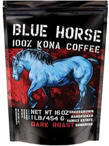 Blue Horse 100% Kona Coffee Medium Roast Whole Beans