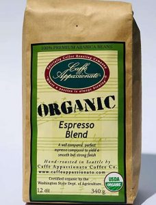 Caffe Appassionato Organic Shade Grown Espresso Roast Coffee