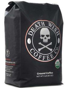 Death Wish Coffee Dark Roast Ground USDA Certified Organic