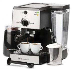 Espresso Machine & Cappuccino Maker with Milk Steamer