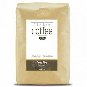 Teasia Coffee, Costa Rica, Single Origin, Medium Roast, Whole Coffee Beans
