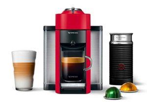 Nespresso ENV135RAE Coffee And Espresso Machine Bundle