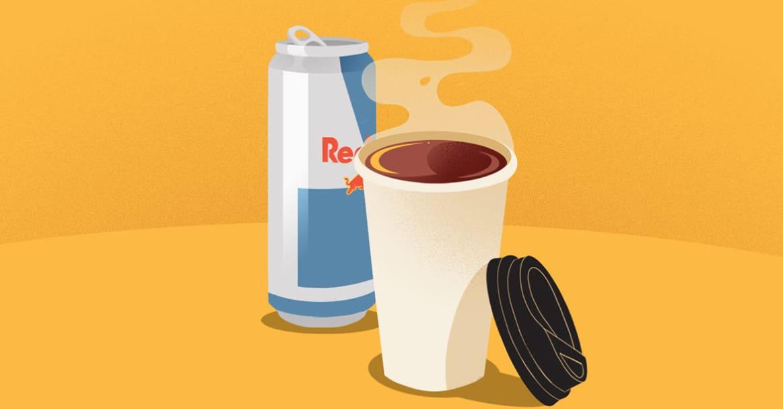 Red Bull VS Coffee Caffeine